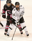 Sonia St. Martin (NU - 12), Beth Hanrahan (PC - 28) - The Northeastern University Huskies defeated the visiting Providence College Friars 8-7 on Sunday, January 20, 2013, at Matthews Arena in Boston, Massachusetts.