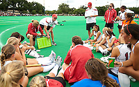 STANFORD, CA - September 19, 2010:  Team during the Stanford Field Hockey game against Cal in Stanford, California. Stanford lost 2-1.