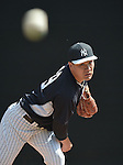 Masahiro Tanaka (Yankees),<br /> FEBRUARY 22, 2015 - MLB :<br /> Masahiro Tanaka of the New York Yankees practices pitching in the bullpen during the New York Yankees spring training camp in Tampa, Florida, United States. (Photo by AFLO)