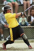 Wellington's Tania Misa during round two of the National Women's Softball Championships at Hataitai Park, Wellington, NewZealand on Sunday 2 February 2009. Photo: Dave Lintott / lintottphoto.co.nz