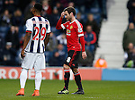 Juan Mata of Manchester United leaves the pitch after receiving a red card - English Premier League - West Bromwich Albion vs Manchester Utd - The Hawthorns Stadium - West Bromwich - England - 6th March 2016 - Picture Simon Bellis/Sportimage