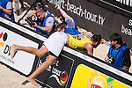10.05.2015, Muenster, Schlossplatz<br /> smart beach tour, Supercup MŸnster / Muenster, Halbfinale<br /> <br /> Abwehr Sebastian Fuchs / Fotografen<br /> <br />   Foto &copy; nordphoto / Kurth