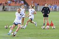 Houston, TX - Saturday July 08, 2017: Allie Long warming up prior to a regular season National Women's Soccer League (NWSL) match between the Houston Dash and the Portland Thorns FC at BBVA Compass Stadium.