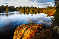 Sunrise Over Springhill Pond In The Adirondack Mountains Of New York State