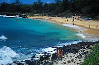 Little beach known also as baby beach, Makena, Maui