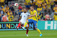 Gustav Engvall of Sweden and Nathan Redmond of England   during Sweden Under-21 vs England Under-21, UEFA European Under-21 Championship Football at The Kolporter Arena on 16th June 2017