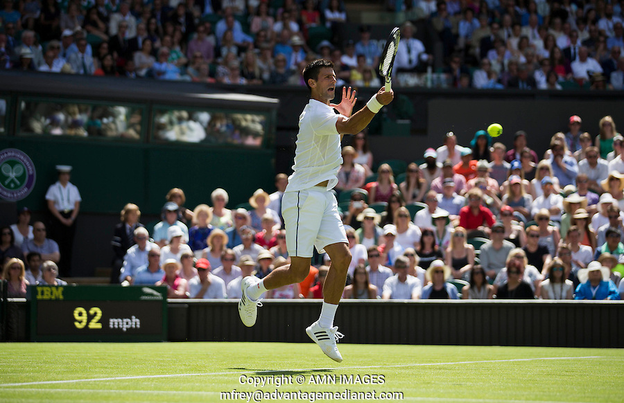 NOVAK DJOKOVIC (SRB)<br /> <br /> TENNIS - THE CHAMPIONSHIPS - WIMBLEDON 2015 -  LONDON - ENGLAND - UNITED KINGDOM - ATP, WTA, ITF <br /> <br /> &copy; AMN IMAGES