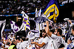 Fans of Real Madrid cheers during the UEFA Champions League 2017-18 match between Real Madrid and Tottenham Hotspur FC at Estadio Santiago Bernabeu on 17 October 2017 in Madrid, Spain. Photo by Diego Gonzalez / Power Sport Images