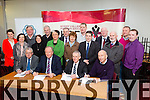 John Flynn, Director of Corporate Services KCC, Cllr Jim Finucane, chairman of Kerry ETB,  Colm McEvoy - Kerry ETB CEO, Peter Twist (county Board Sectreary) Signing of Agreements  at the Kerry College of Further Education on Monday with committee members