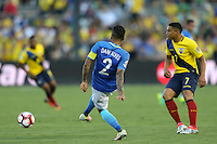 Pasadena, CA - Saturday June 04, 2016: during a Copa America Centenario Group B match between Brazil (BRA) and Ecuador (ECU) at Rose Bowl Stadium.