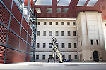 Reina Sofia Modern Art Museum with Roy Lichtenstein Brushstroke Sculpture, Madrid, Spain