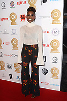 LOS ANGELES - FEB 8:  Issa Rae at the Guild of Music Supervisors Awards at The Theatre at Ace Hotel on February 8, 2018 in Los Angeles, CA