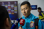 A Jiangsu Sainty player (CHN) is being interviewed after the match Jiangsu Sainty (CHN) vs Becamex Binh Duong (VIE) during their AFC Champions League Group E match on 20 April 2016 at the Olympic Sports Centre in Nanjing, China. Photo by Lucas Schifres / Power Sport Images