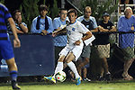 19 September 2014: North Carolina's Alex Olofson. The Duke University Blue Devils hosted the University of North Carolina Tar Heels at Koskinen Stadium in Durham, North Carolina in a 2014 NCAA Division I Men's Soccer match. Duke won the game 2-1.