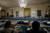 United States President Barack Obama holds a working dinner with heads of delegations at the Nuclear Security Summit at the White House on March 31, 2016.<br /> Credit: Dennis Brack / Pool via CNP