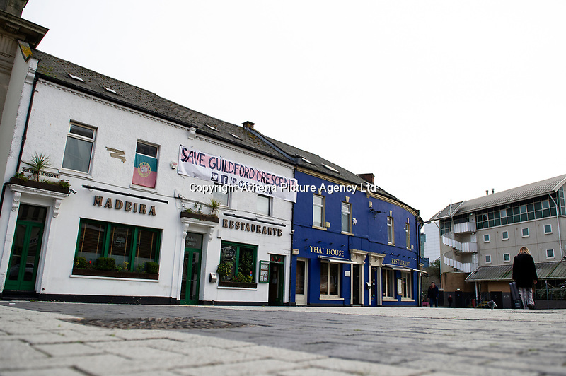 Pictured: A general view of Guildford Crescent, Cardiff, Wales, UK. Thursday 10 January 2018<br /> Re: Calls have been made for a board to be set up to help safeguard music in Cardiff following the closure of one venue and another under threat.<br /> <br /> Buffalo has closed, with owners citing business rate rises, while Gwdihw is also set to shut later this month after its landlord did not renew the lease.