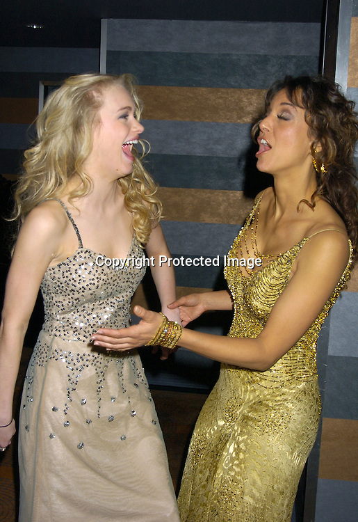 Leven Rambin and Eva La Rue ..at the Rainbow Room at the celebration for All My Childrens's 35th Anniversary after a show at Town Hall benefitting Broadway Cares Equity Fights Aids on February 7, 2005. ..Photo by Robin Platzer, Twin Images