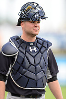 Catcher Brian McCann (34) of the New York Yankees before a spring training game against the Pittsburgh Pirates on February 26, 2014 at McKechnie Field in Bradenton, Florida.  Pittsburgh defeated New York 6-5.  (Mike Janes/Four Seam Images)