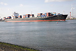 Shipping, Nieuwe Waterweg, ship canal between Maasluis and Hook of Holland, Netherlands