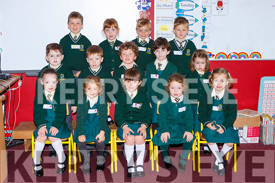 Junior infants on their first day of school in Loreto NS on Monday front row l-r: Lily Falvey, Lily Boclon, Annabelle van Vreda, Alice Pierce, Emer Spellman. Middle row: Jayden McGough, Darren Leahy, Jack Conroy, Sorina Nesta-Harman, Milly Larkin. Back row: Daniel Moloney, Saorlaith Farry, Finn McDonald and Liam Dewera
