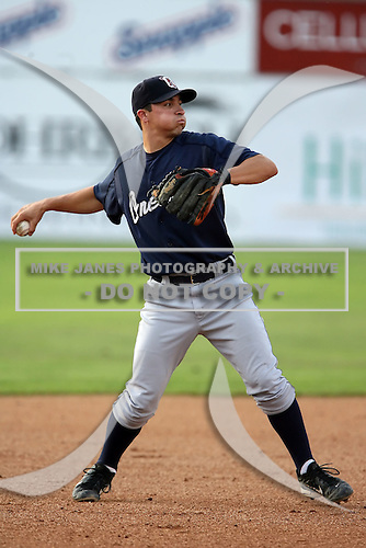 July 23 2008:  Brent Wyatt of the Oneonta Tigers, Class-A affiliate of the Detroit Tigers, during a game at Dwyer Stadium in Batavia, NY.  Photo by:  Mike Janes/Four Seam Images