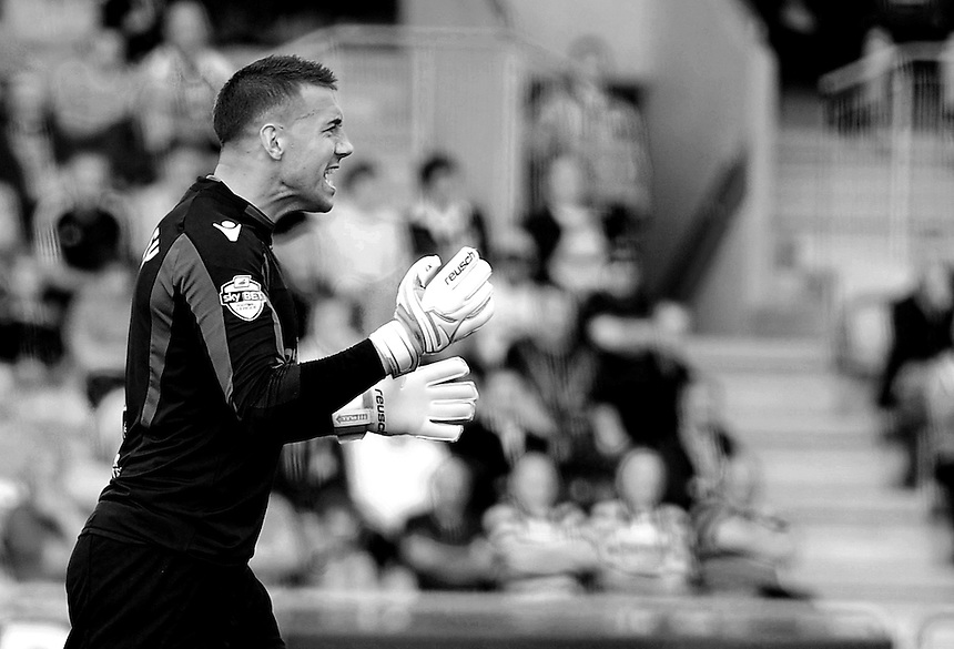 Newport County's Lenny Pidgeley in action during todays match  <br /> <br /> (Photo by Ashley Crowden/CameraSport)<br /> <br /> Football - The Football League Sky Bet League Two - Newport County v Mansfield Town - Saturday 7th September 2013 - Rodney Parade - Newport<br /> <br /> &copy; CameraSport - 43 Linden Ave. Countesthorpe. Leicester. England. LE8 5PG - Tel: +44 (0) 116 277 4147 - admin@camerasport.com - www.camerasport.com