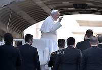 Pope Francis during of the Palm Sunday celebration on St Peter's square at the Vatican.. March 29, 2015