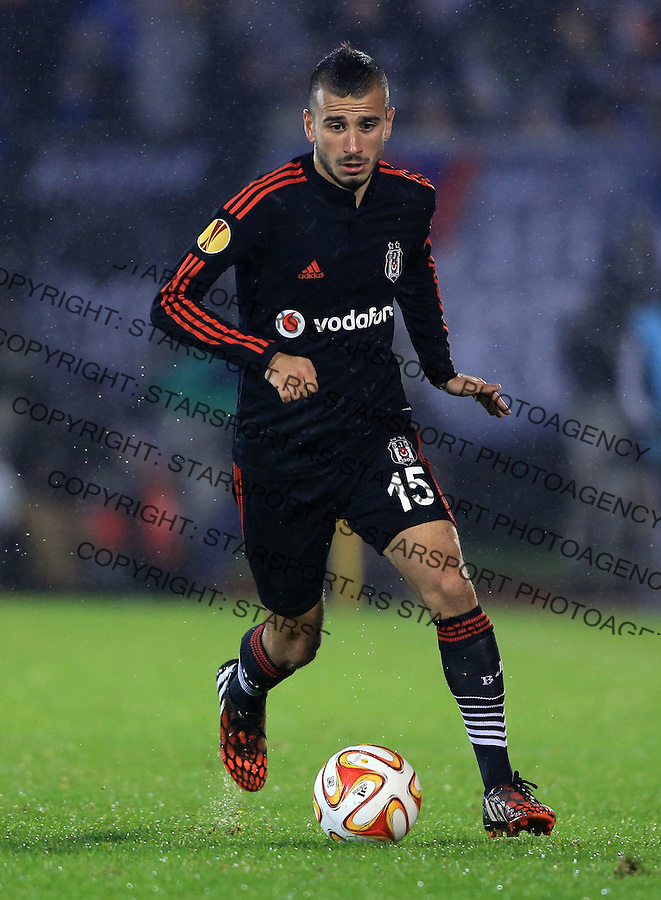 Fudbal Football Soocer<br /> UEFA Europe League <br /> Partizan v Besiktas<br /> Oguzhan Ozyakup<br /> Beograd, 23.09.2014.<br /> foto: Srdjan Stevanovic/Starsportphoto&copy;