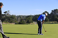 Gerry McIlroy (NIR) putts on the 2nd green at Spyglass Hill during Thursday's Round 1 of the 2018 AT&amp;T Pebble Beach Pro-Am, held over 3 courses Pebble Beach, Spyglass Hill and Monterey, California, USA. 8th February 2018.<br /> Picture: Eoin Clarke | Golffile<br /> <br /> <br /> All photos usage must carry mandatory copyright credit (&copy; Golffile | Eoin Clarke)