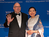 Governor Larry Hogan (Republican of Maryland) and his wife, Yumi, arrive for the 2019 White House Correspondents Association Annual Dinner at the Washington Hilton Hotel on Saturday, April 27, 2019.<br /> Credit: Ron Sachs / CNP<br /> (RESTRICTION: NO New York or New Jersey Newspapers or newspapers within a 75 mile radius of New York City)