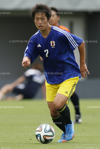 Shuto Kitagawa,<br /> JULY 1, 2014 - Football / Soccer : <br /> Training match between U-19 Japan 1-2 Omiya Ardija<br /> at NACK5 Stadium Omiya, Saitama, Japan. <br /> (Photo by SHINGO ITO/AFLO SPORT)
