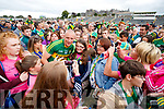 Kieran Donaghy poses with fans after the Munster Senior Football Final at Fitzgerald Stadium on Sunday.
