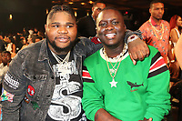 MIAMI, FL - OCTOBER 6: Fatboy SSE &amp; Zoey Dollaz inside at the 2018 BET Hip Hop Awards at the Fillmore Theater in Miami, Florida on October 6, 2018. <br /> CAP/MPIWG<br /> &copy;WG/MPI/Capital Pictures