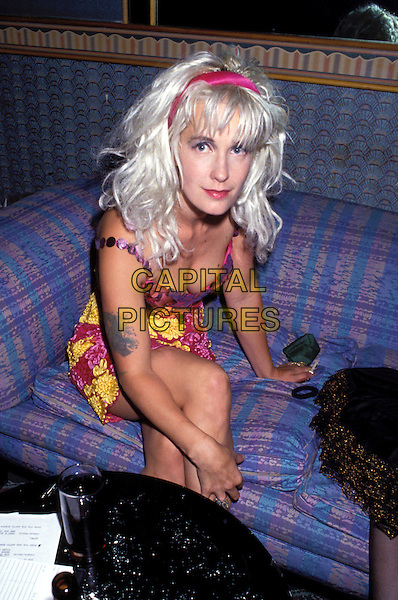 PAULA YATES<br /> eighties fashion, cleavage, dead, deceased, tattoo<br /> Ref: 026<br /> www.capitalpictures.com<br /> sales@capitalpictures.com<br /> &copy; Capital Pictures