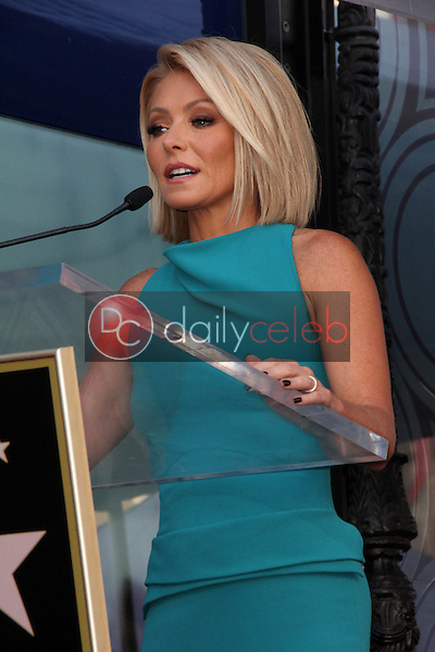 Kelly Ripa<br /> at the Kelly Ripa Star on the Hollywood Walk of Fame, Hollywood, CA 10-12-15<br /> David Edwards/Dailyceleb.com 818-249-4998