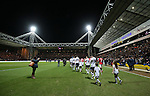 Preston and Manchester Utd walk out for their FA Cup tie at the Deepdale stadium - FA Cup Fifth Round - Preston North End  vs Manchester Utd  - Deepdale Stadium - Preston - England - 16th February 2015 - Picture Simon Bellis/Sportimage