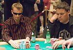 Mads Anderson reacts to Michael Binger's all in.  Anderson folded.
