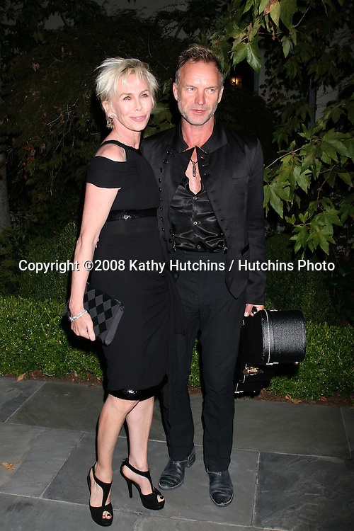 Trudie Styler & Sting  arriving at the Oceana Annual Gala at a private home in Pacific Palisades, CA on.October 18, 2008.©2008 Kathy Hutchins / Hutchins Photo...                .