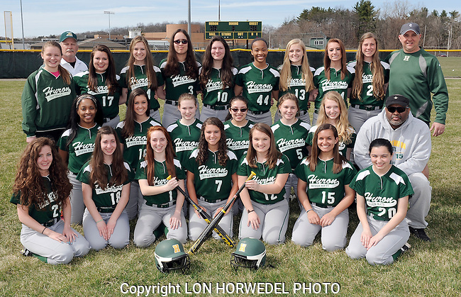 Huron High School softball team.