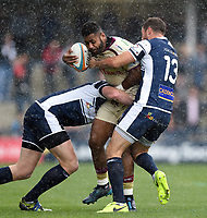 Junior Bulumakau of Doncaster Knights takes on the Yorkshire Carnegie defence. Greene King IPA Championship match, between Yorkshire Carnegie and Doncaster Knights on September 17, 2017 at Headingley Stadium in Leeds, England. Photo by: Patrick Khachfe / Onside Images