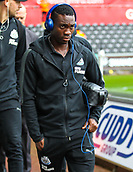 10th September 2017, Liberty Stadium, Swansea, Wales; EPL Premier League football, Swansea versus Newcastle United; Christian Atsu of Newcastle United arrives at the Liberty Stadium