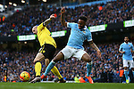 Alan Hutton of Aston Villa and Raheem Sterling of Manchester City - Barclay's Premier League - Manchester City vs Aston Villa - Etihad Stadium - Manchester - 05/03/2016 Pic Philip Oldham/SportImage