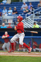 Williamsport Crosscutters outfielder Zachary Coppola (11) at bat during a game against the Batavia Muckdogs on August 29, 2015 at Dwyer Stadium in Batavia, New York.  Williamsport defeated Batavia 7-3.  (Mike Janes/Four Seam Images)