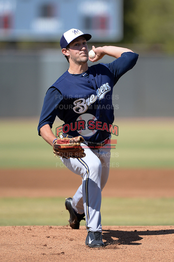 Milwaukee Brewers pitcher Clint Terry (30) during an Instructional League game against the Oakland Athletics on October 10, 2013 at Maryvale Baseball Park Training Complex in Phoenix, Arizona.  (Mike Janes/Four Seam Images)