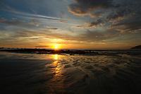 Tamarindo beach sunset Costa Rica, Pacific Ocean