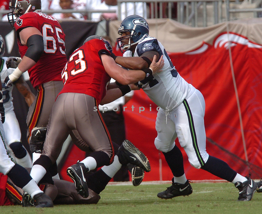 BRYCE FISHER, of the Seattle Seahawks, during their game  against the Tampa Bay Buccaneers on December 31, 2006 in Tampa Bay, FL...Seattle wins 23-7...TOMASSO DEROSA/ SPORTPICS