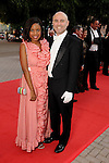The Chronicle's Amber Elliott and guest at the Houston Grand Opera Ball - Carousel! at the Wortham Theater Saturday April 9,2016.(Dave Rossman Photo)