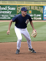 June 7, 2004:  Matt Whitney of the Lake County Captains, Low-A South Atlantic League affiliate of the Cleveland Indians, during a game at Classic Park in Eastlake, OH.  Photo by:  Mike Janes/Four Seam Images