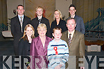The OSullivan Family attending the Confirmations in OConnell Memorial Church, Cahersiveen, on Monday last. Front row l-r: Jack OSullivan, Kathleen OSullivan, John OSullivan and Kevin OSullivan. Middle row l-r: Anthony OSullivan, Kitty OSullivan, Geradette Kelleher, Noreen OSullivan, Deborah Garvey and Eileen Garvey. Back l-r: Kieran McStay and Vernal McStay.