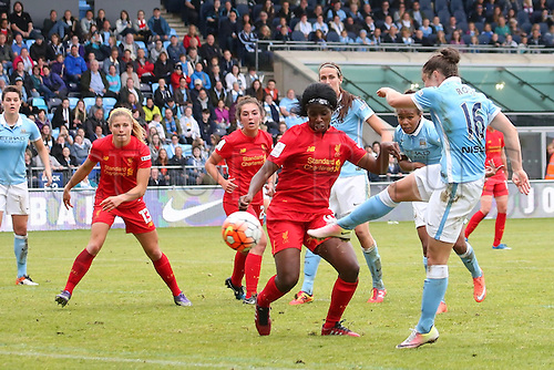 26.06.2016. The Academy Stadium, Manchester, England. FA Womens Super League. Manchester City versus Liverpool.<br />